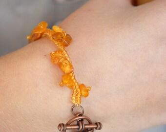 Amber bracelet Baltic amber jewelry Gemstone natural amber genuine raw amber Beaded inspiration beach wedding jewelry amber beads honey