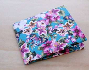 Womens Wallet - Minimalist wallet - Beach WaterProof Wallet -  Wallet - Vegan Wallet - Card Wallet - No Scratches, no spots - Bright Flowers