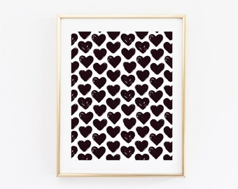 Watercolor Hearts Print - Hearts Print - Watercolor Print - Heart Art - Watercolor Art - Watercolor - Hearts