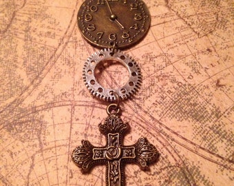 The Word and the Machine Steampunk Necklace