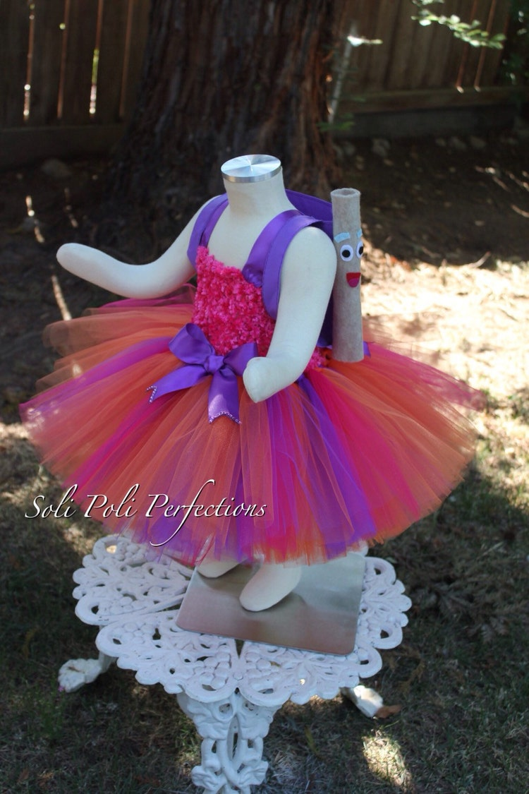 Dora the Explorer Tutu Dress & Backpack by SoliPoliPerfections