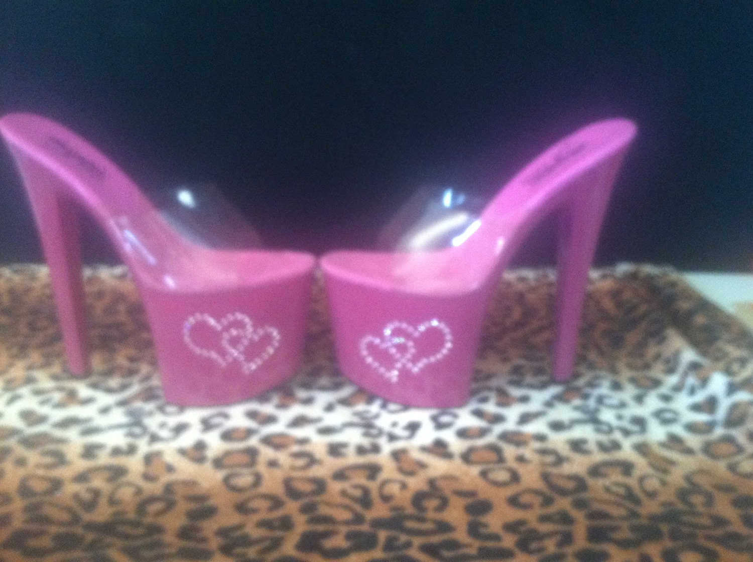 pink stripper heels exotic dancer shoes 7 by ultravixenhollywood