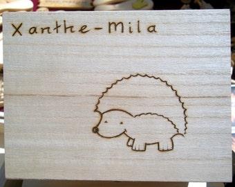 Personalised Hedgehog Box