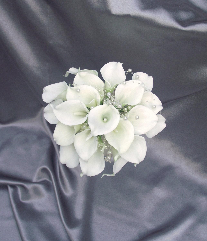 Bouquet de mari e l gant lys calla bouquet de mari e avec for Bouquet de lys