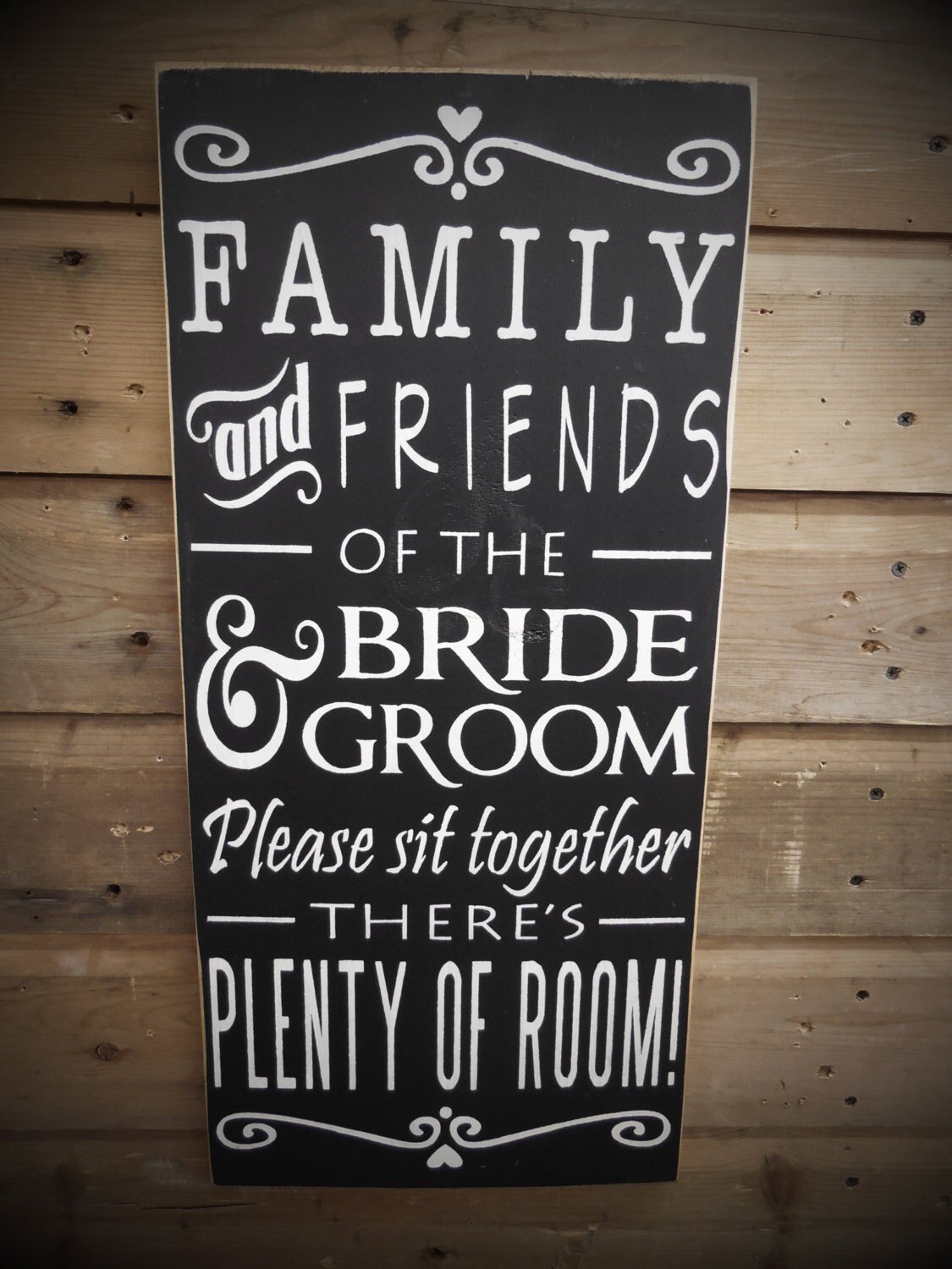 Friends Of The Bride Sign Choose A Seat Sign Not A Side Pick A