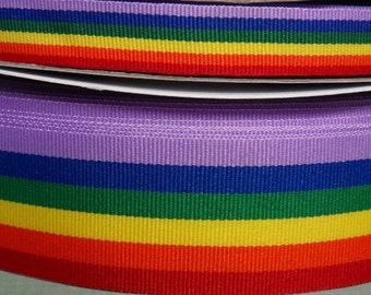 Rainbow Ribbon | Gay Pride Ribbon - Choice of Width