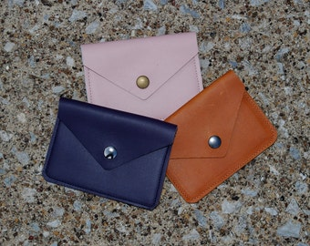 Leather Envelope Card Holder / Leather Card Case