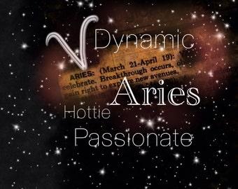 Aries Horoscope Poster