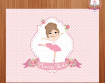 Ballerina Girl Backdrop Banner - Printable Backdrop Banner