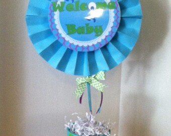 Monsters Inc inspired baby shower center piece (centerpiece only!)