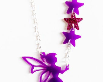 Fairy tinkerbell necklace