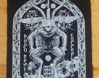 Satanic Toad Black Metal Demon Back Patch