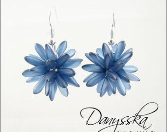 Dark Blue Dagger Earrings