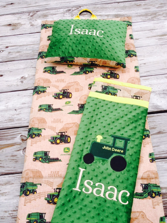 deer tractor print nap mat cover