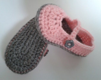 Crocheted Mary Jane Skimmers for 6 month baby