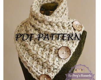 Knitting Patterns For Collar Scarf : Items similar to Icelandic Edition - Deep Rib Knit Collar Cowl - Knitting Pat...