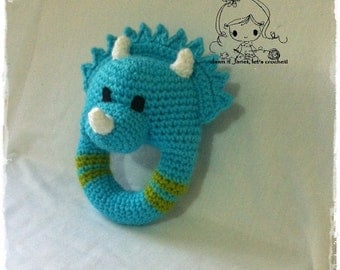 Triceratops Rattle - PDF Crochet Patterns - Instant Download