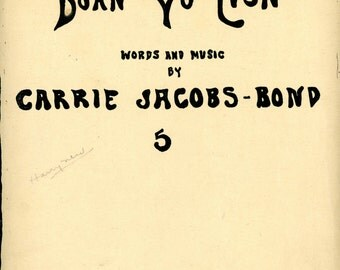 "1908 Sheet Music, ""Doan' Yo' Lis'n"","