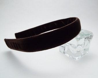Brown Velvet Headband