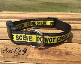 Do Not Cross Crime Scene dog collar
