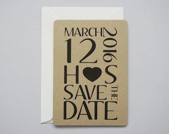 Rustic Statement Save The Date // Manila