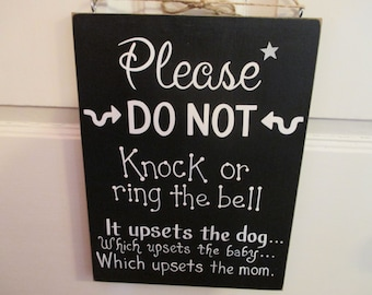 Please Do Not Knock Sign