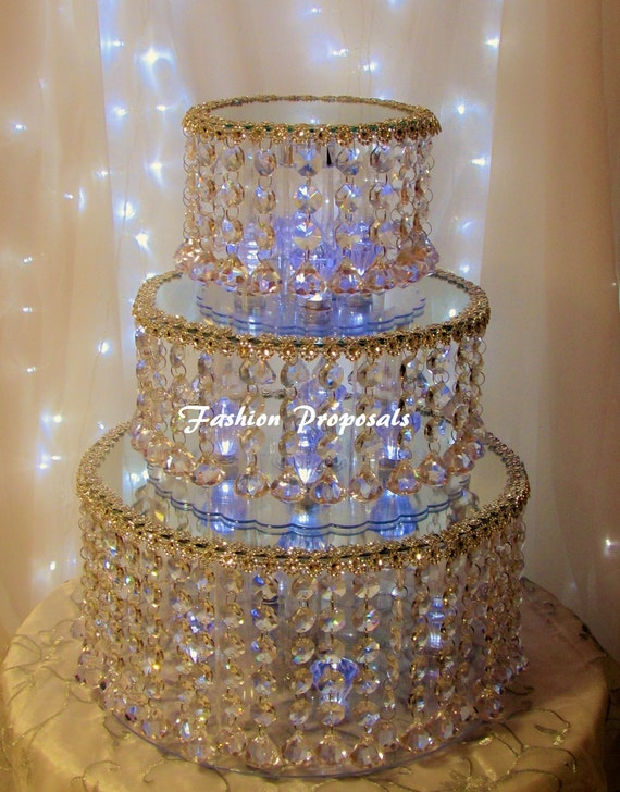 Crystal Wedding Cake Serving Set