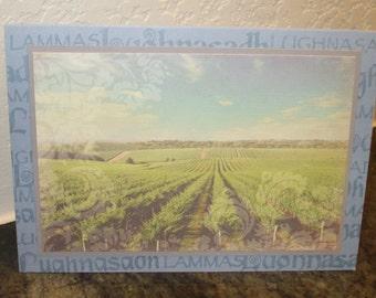 Lughnasa Card Vineyard Field Blessings at Lughnasadh Lammas August 1st