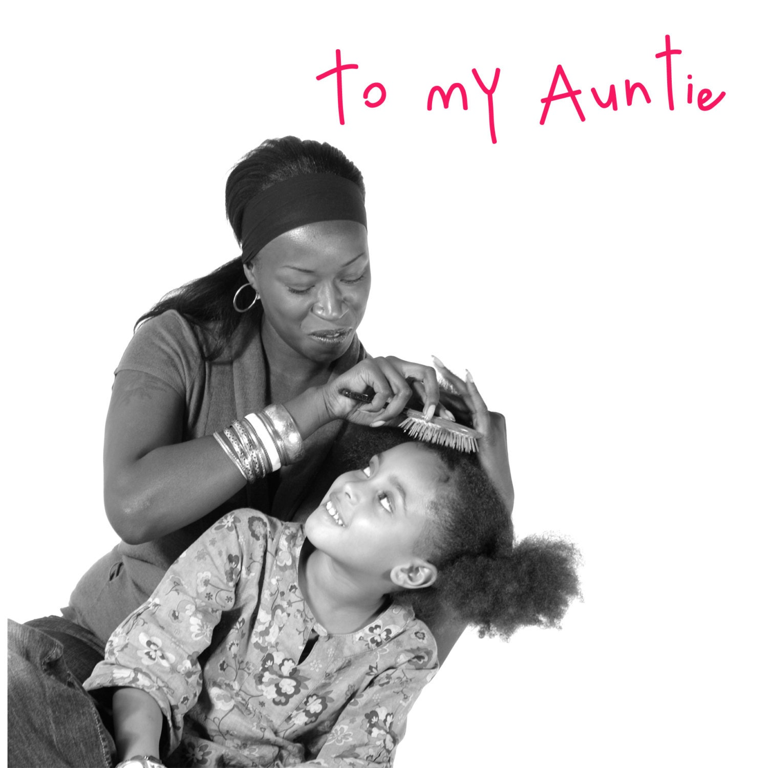 Auntie card Auntie birthday card Aunt African American – Birthday Cards for the Blind
