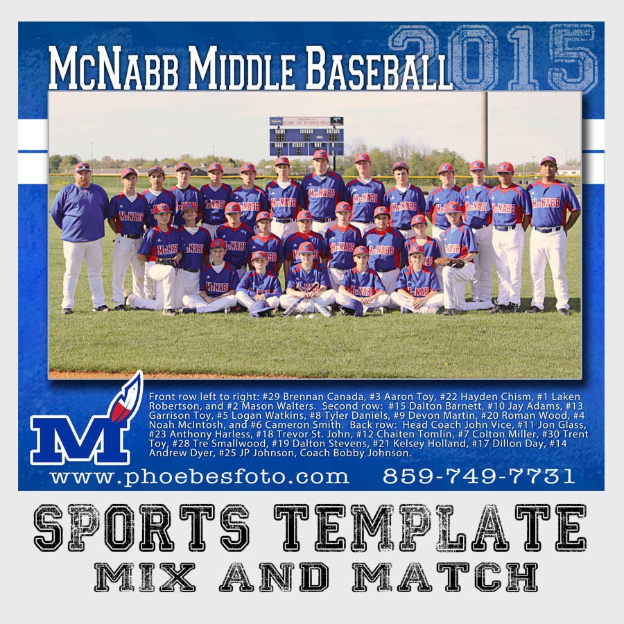 sports team photography templates - psd sports team photo photoshop template for professional