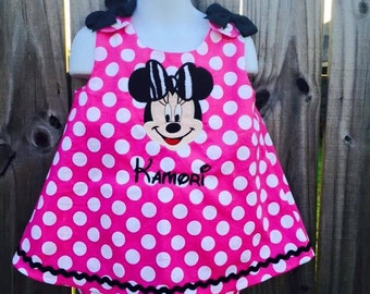 Minnie Mouse Dress Minnie Birthday Dress Girls Birthday Dress