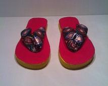 Repurposed Flip Flops size medium
