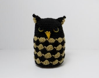 Steampunk Prop Plushie-Crochet Owl Amigurumi - READY TO SHIP