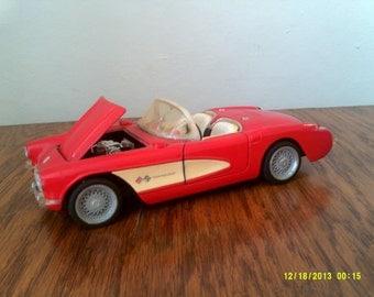 Vintage Die Cast 1957 Corvette Replica, Superior 1:24, Chevrolet Corvette, Red Corvette, 1957 Corvette, Corvette Collectible, Automobilia