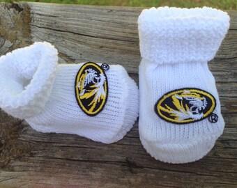 Missouri tigers baby booties