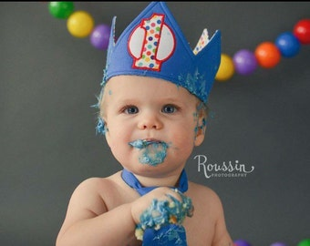 Boy Blue Birthday Crown / Birthday Hat