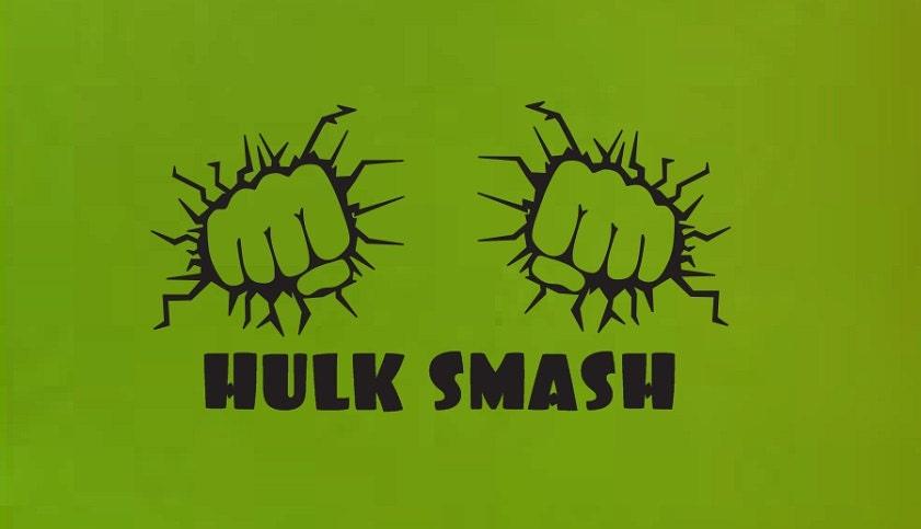 Hulk Smash Fist Wall Quote Sign Vinyl Decal Sticker Ba Man