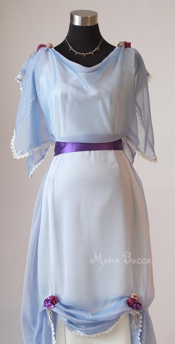 Edwardian light blue evening dress made in England Downton Abbey inspired Titanic styled dress $269.83 AT vintagedancer.com