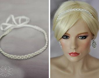 Vintage Headpiece  Beaded Hairband/ Headband eBohemian Head Piece, Wedding  Headpiece Gatsby Flapper  Bohemian Look Halo  Tiara