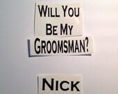 DIY Will You Be My Groomsman Best Man  Ring Bearer Vinyl Decals Make Your Own Wedding Tumblers or Mason Jar