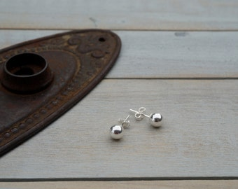 Silver Ball Earrings / Sterling Silver 6mm Ball Stud Earrings / Sterling Silver Ball Studs / Classic Simple Jewelry / BellaBalls