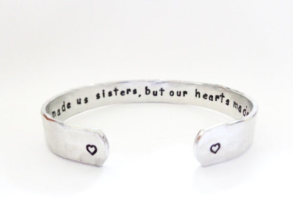 Sisters Gift, Friends Gift, Sister-in-Law Gift, Secret Message Bracelet, Chance made us sisters but... Custom Stamped By Timeless Maiden
