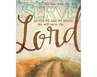MA1182 - Serve the Lord - 12 x 18