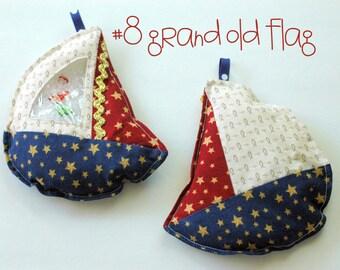 Patriotic Grand Old Flag Sailboat I Spy bag