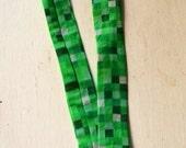 8-bit green video game La...