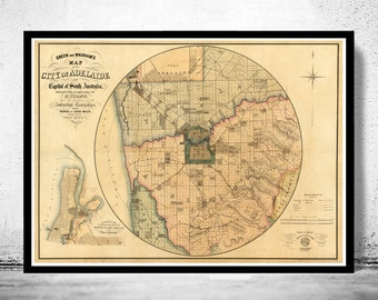 Great Map of Adelaide Australia 1891