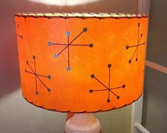 Mid Century Style  Fiberglass Lamp Shade Retro Modern Starburst