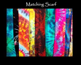Tye Dye Scarf Multicolored Custom Selection | Tye Dye | Colorful Scarves | Handmade Scarf | Custom Scarf