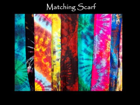 BOHO Tye Dye Scarf, pick your color!