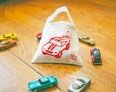 Race Car Tote, Gift for Kids, Kids Tote Bag, Matchbox Cars Bag, Car Birthday Gift, Boys Car Tote, Car Party Favor Bag